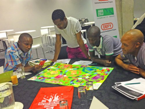 Participants had fun learning the facts about bullying, substance abuse and HIV and AIDS by playing the RHIVA board game