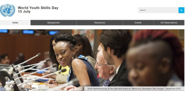 World Youth Skills Day: 15 July