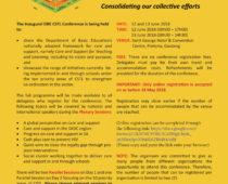 INVITATION – DBE Inaugural National CSTL Conference