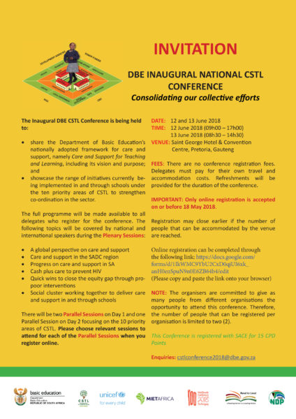 INVITATION – DBE Inaugural National CSTL Conference