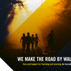 OUT NOW! We Make the Road by Walking – Care and Support for Teaching and Learning: An Incredible Journey