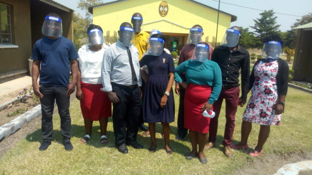 Screening Educators' Smiles: The donation of face shields meant that educators can talk freely to learners while maintaining safety standards